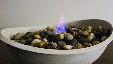 Dollar Tree DIY Tabletop Fire Pit   DIY Joy Projects and Crafts Ideas