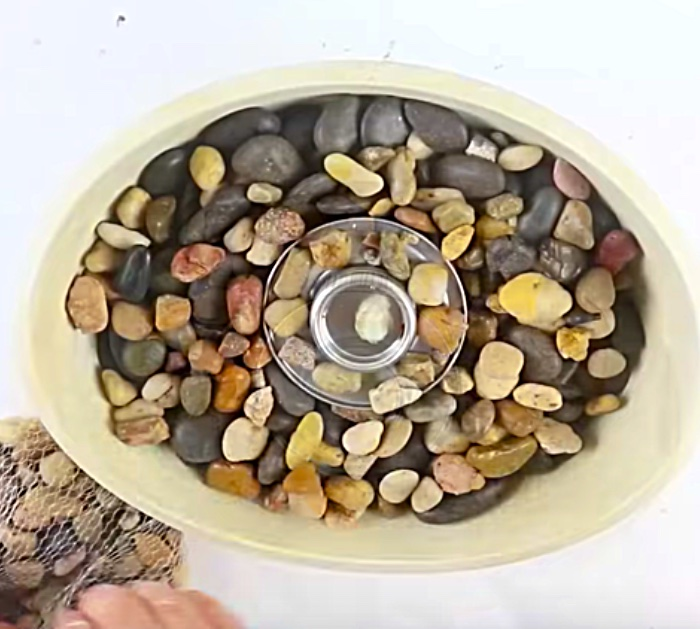 Learn to make a DIY Tabletop Fire Pit with materials from Dollar Tree