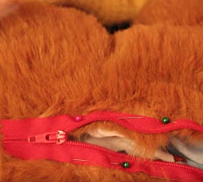 Cheap Easy Furry Teddy Bear Backpack