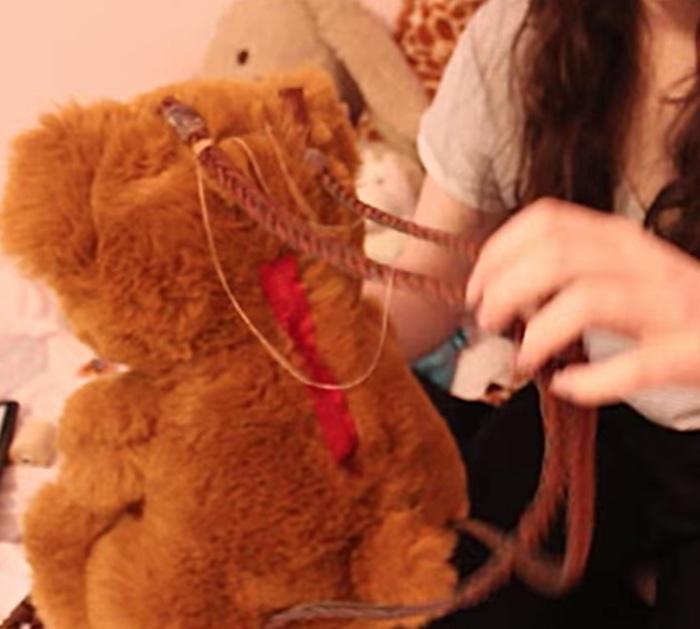Make a super cool Teddy Bear Backpack Fun DIY