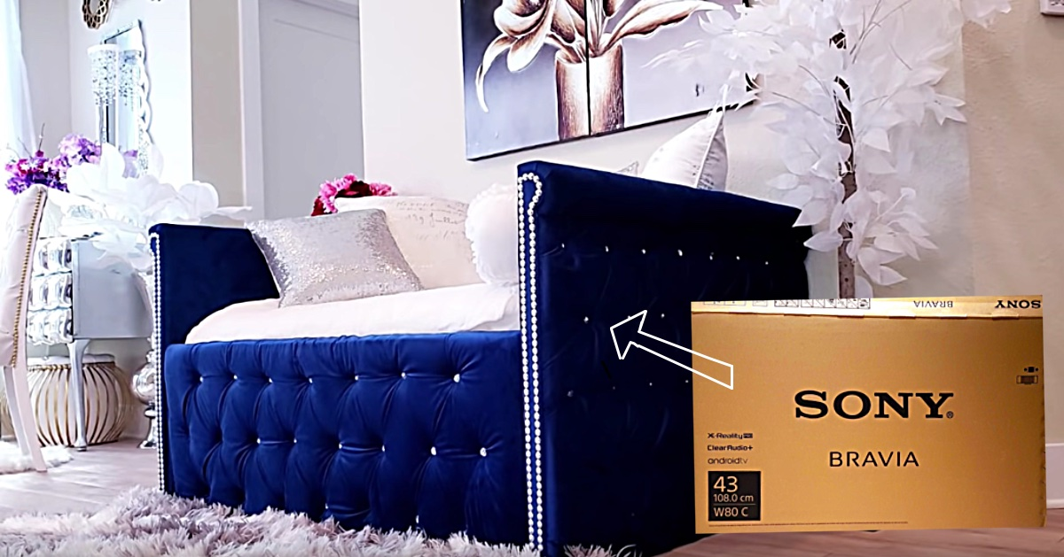 Turn A Tv Box Into A Sofa Daybed