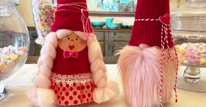 DIY Valentine's Day Gnome Couple