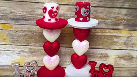 DIY Valentine's Day Candle Holder | DIY Joy Projects and Crafts Ideas