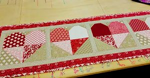 DIY Quilted Valentine Table Runner
