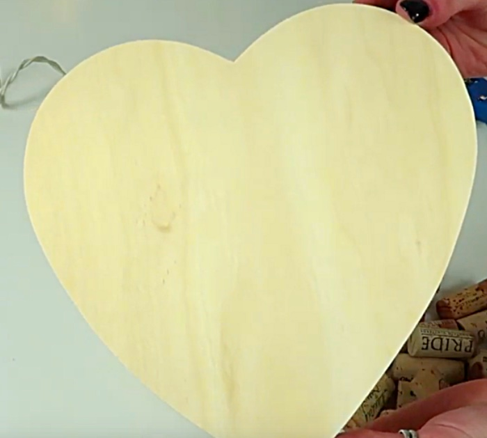 Make a cheap easy DIY Wine Cork Heart for Valentine's Day