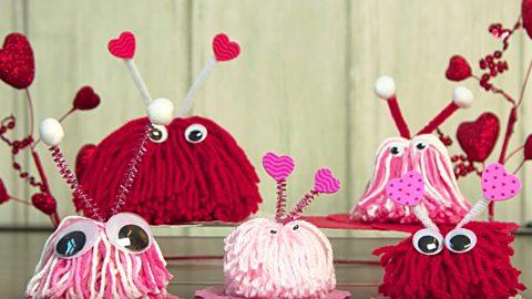 DIY Yarn Love Bugs   DIY Joy Projects and Crafts Ideas