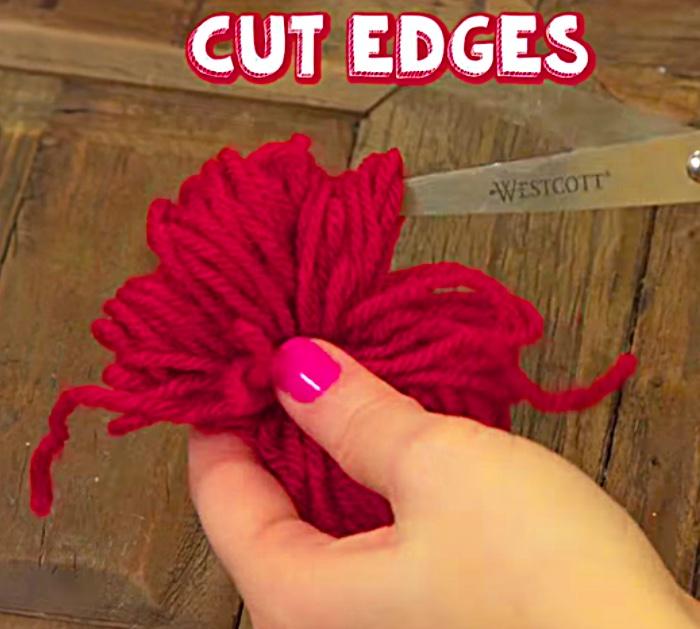 Cute fun easy DIY Yarn Love Bug Pom Poms
