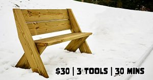 DIY Thirty Dollar Outdoor Bench