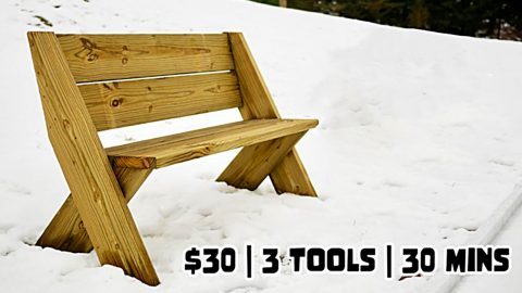 DIY Thirty Dollar Outdoor Bench | DIY Joy Projects and Crafts Ideas