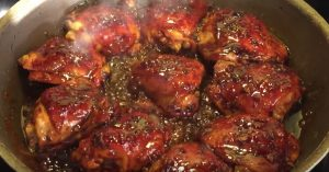 Honey Garlic Glazed Chicken Thigh Recipe