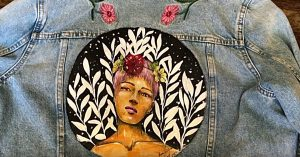 How To Paint Acrylic On Denim