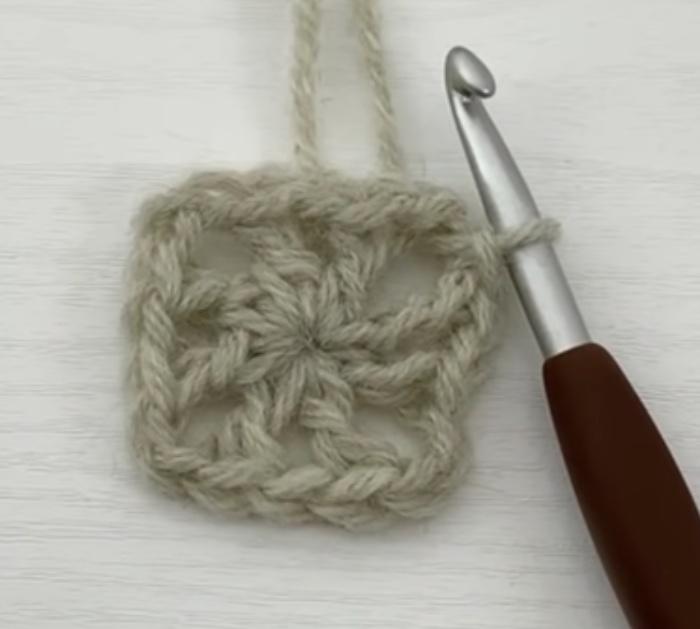 Make crocheted afghan squares