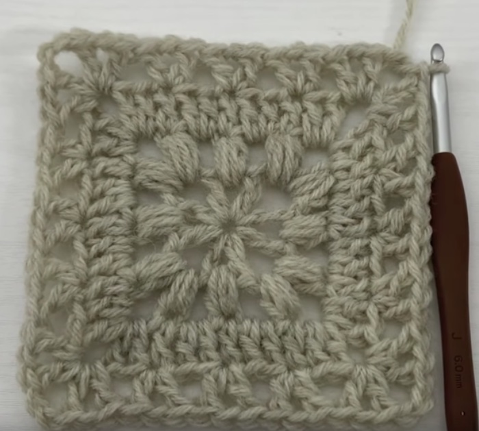 Make crocheted afghan squares