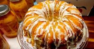 Boozy Peach Upside Down Bundt Cake Recipe