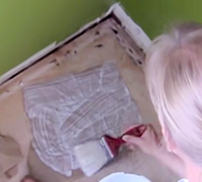 Make a DIY Faux Leather Wood Toned DIY Brown Paper Floor