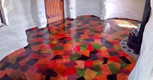 DIY Colored Paper Floor