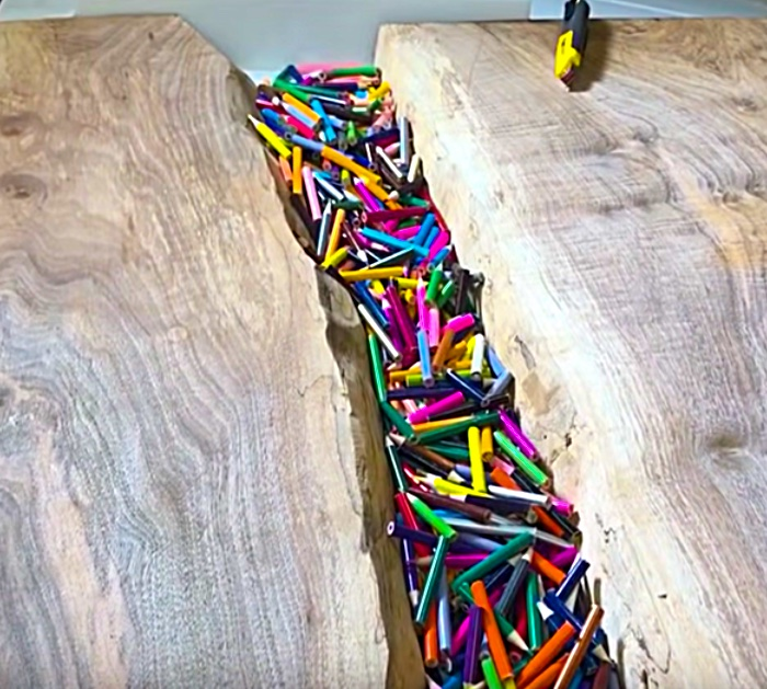 Furniture Making Tutorial - DIY Colored Pencil Desk
