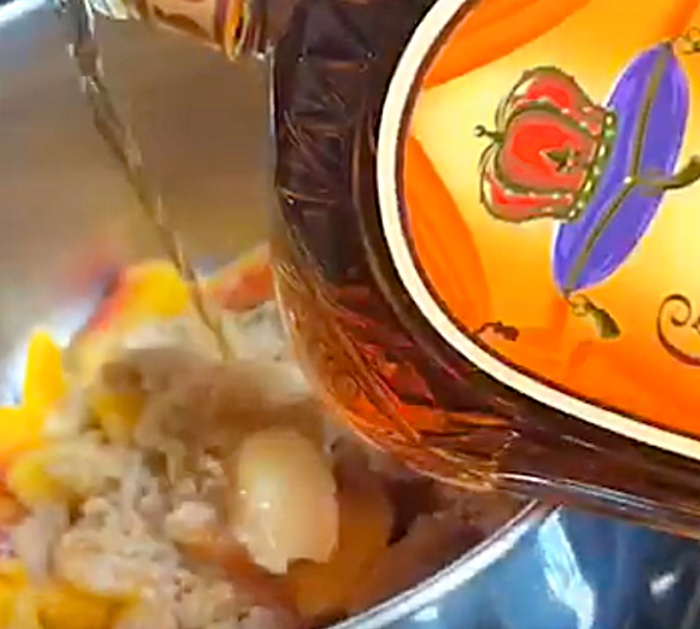 Make Crown Royal Peach Cobbler Cinnamon Rolls with crown royal caramel sauce
