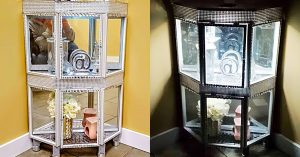 DIY Dollar Tree Curio Cabinet
