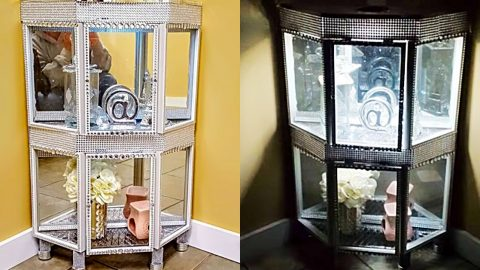 DIY Dollar Tree Curio Cabinet | DIY Joy Projects and Crafts Ideas