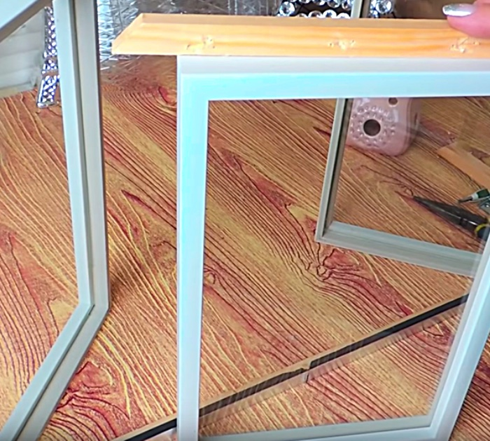 Make a Beautiful Curio Cabinet with lights out od simple cheap Dollar Tree Materials