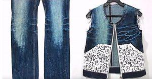 Make A Zip Up Denim Vest From Old Jeans