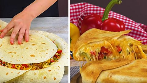 Chicken Fajita Crunch Wrap Recipe | DIY Joy Projects and Crafts Ideas