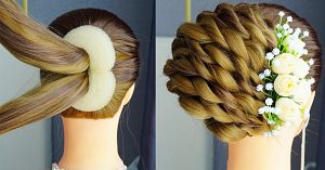 Step By Step French Roll Hairstyle