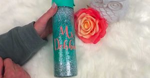 How To Glitter A Tumbler Water Bottle