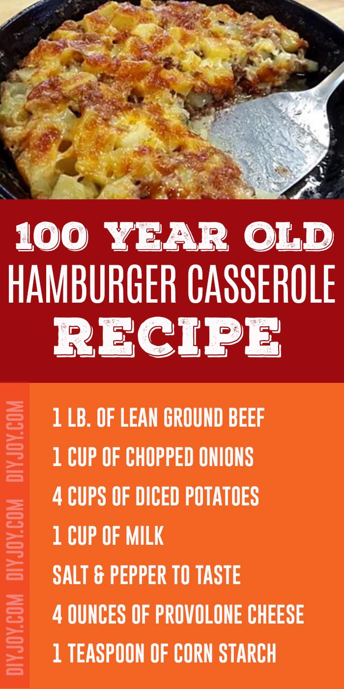 100-Year-Old Hamburger Casserole Recipe