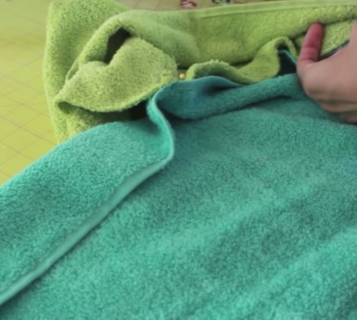 Make a cheap easy quick hooded towel