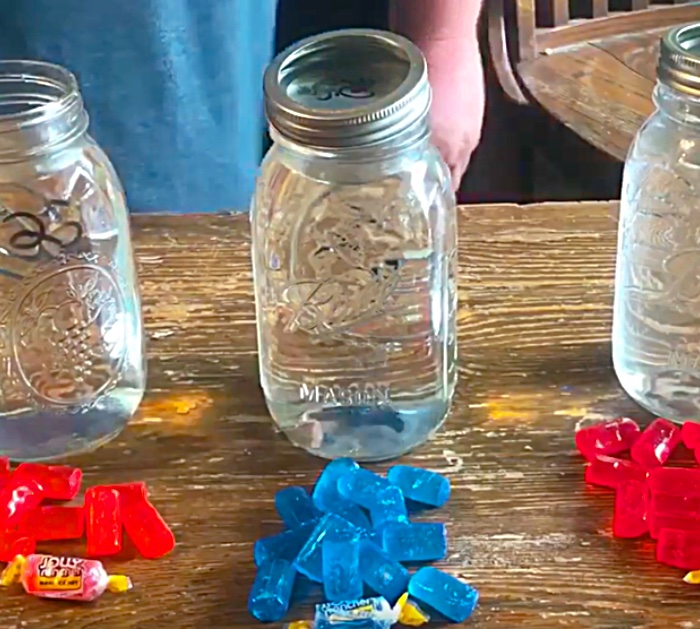 Make Jolly Rancher Moonshine with Moonshine or Ever Clear