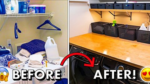 DIY Laundry Room Makeover | DIY Joy Projects and Crafts Ideas