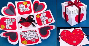 DIY Fold Out Valentine Card