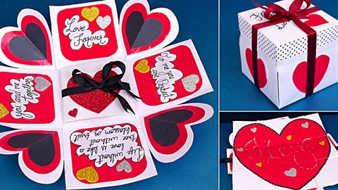 DIY Fold Out Valentine Card | DIY Joy Projects and Crafts Ideas