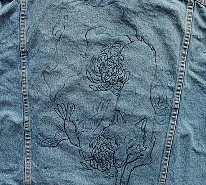 How To Custom Paint A Denim Jacket