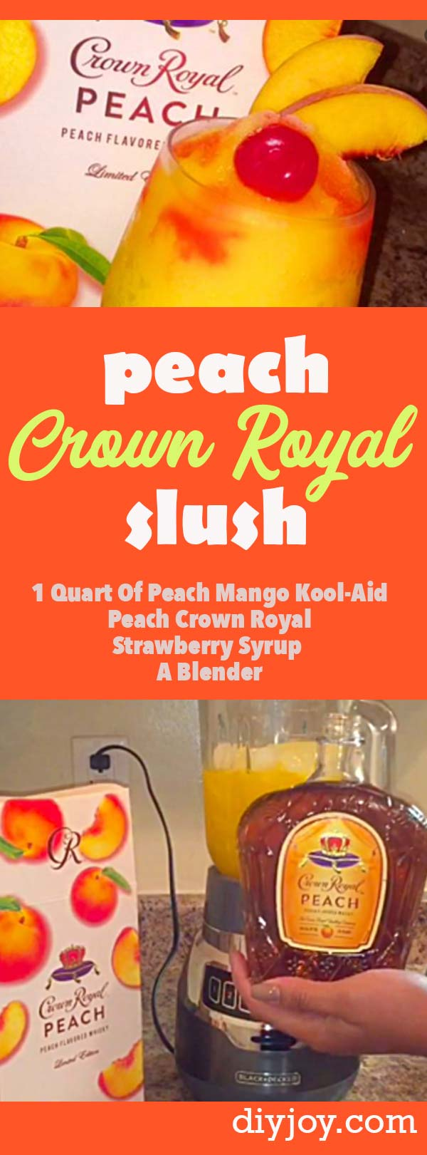 Peach Slush Recipe With Crown Royal - Easy Frozen Drink Recipes for Summer Parties