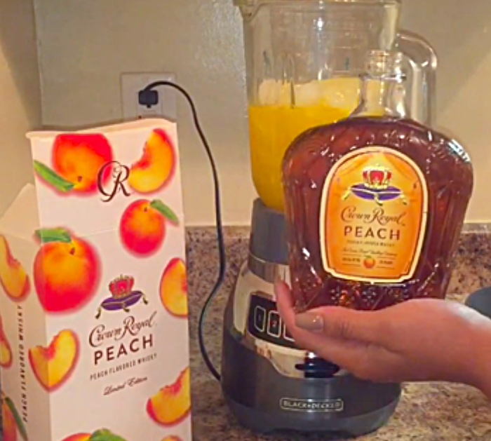 Make a Peach Crown Royal Slushie with Kool Aid