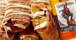 Peach Cobbler Egg Rolls With Captain Morgan Rum Recipe