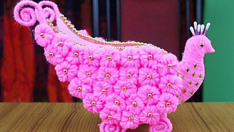 DIY Peacock Yarn Vase | DIY Joy Projects and Crafts Ideas