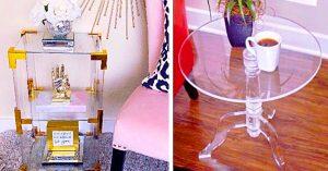 DIY Designer Acrylic End Tables