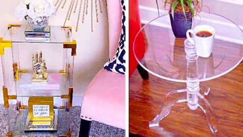 DIY Designer Acrylic End Tables | DIY Joy Projects and Crafts Ideas