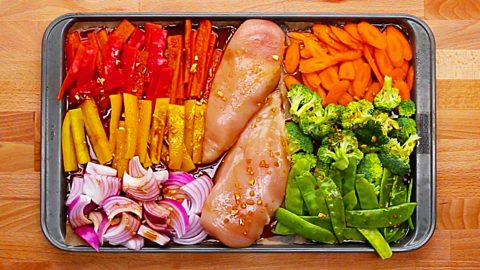 Chicken And Vegetable Sheet Pan Meal Prep Recipe | DIY Joy Projects and Crafts Ideas