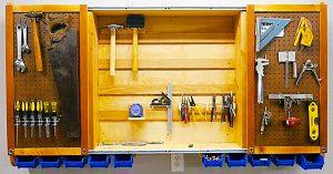 DIY Sliding Door Tool Cabinet