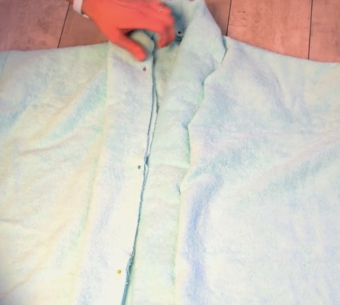 Make quick easy cheap terry bathrobe with no pattern