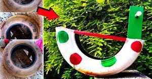 DIY Upcycled Tire Rocking Horse