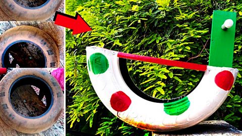 DIY Upcycled Tire Rocking Horse | DIY Joy Projects and Crafts Ideas