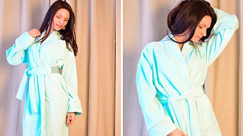 DIY Bathrobe Without A Pattern | DIY Joy Projects and Crafts Ideas