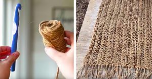 How To Make A Jute Farmhouse Rug Out Of Dollar Store Twine