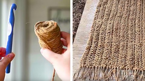 How To Make A Jute Farmhouse Rug Out Of Dollar Store Twine   DIY Joy Projects and Crafts Ideas